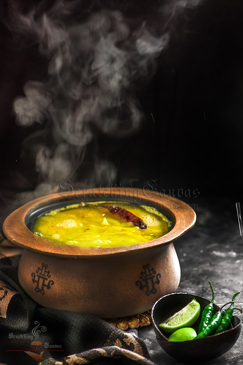 Bengali Kacha Aam Tok Dal Steam Food Photography Styling