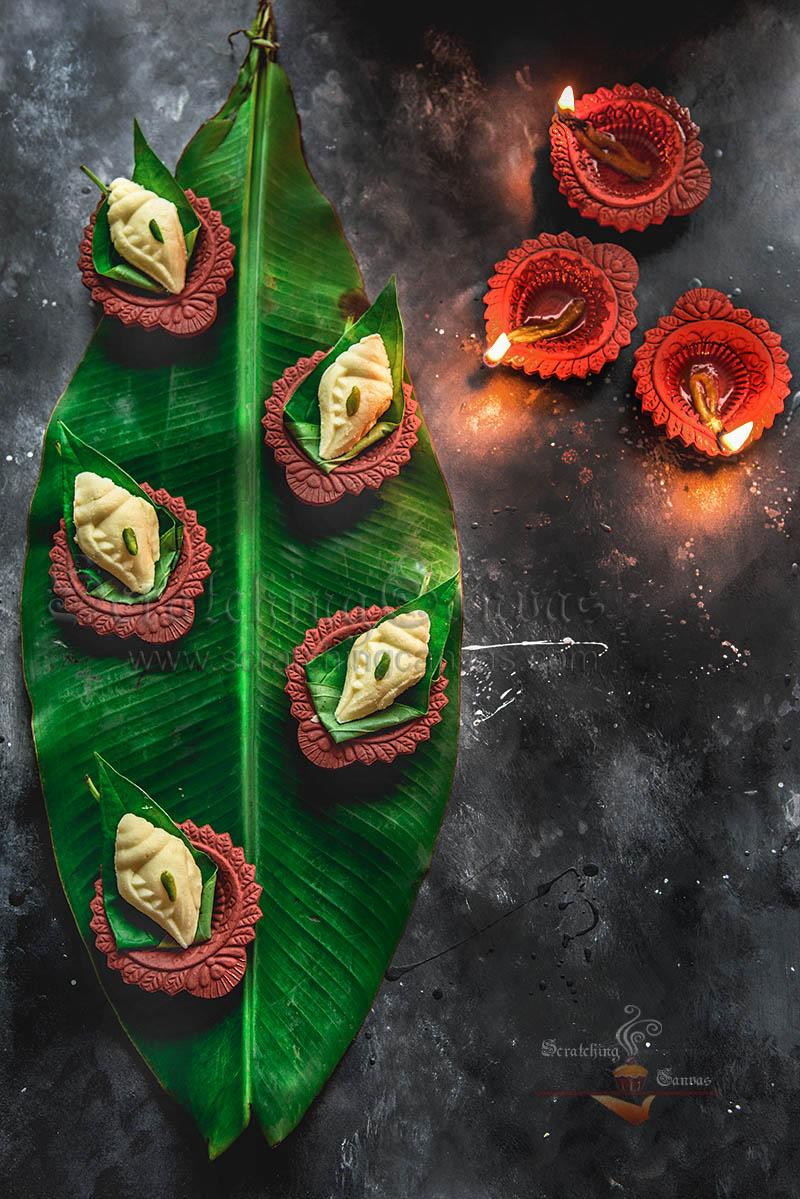 Bengali Shankh Sandesh Styling Recipe