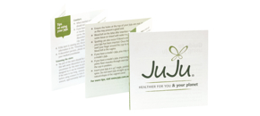 the JuJu menstrual cup comes with a helpful and informative guide for use