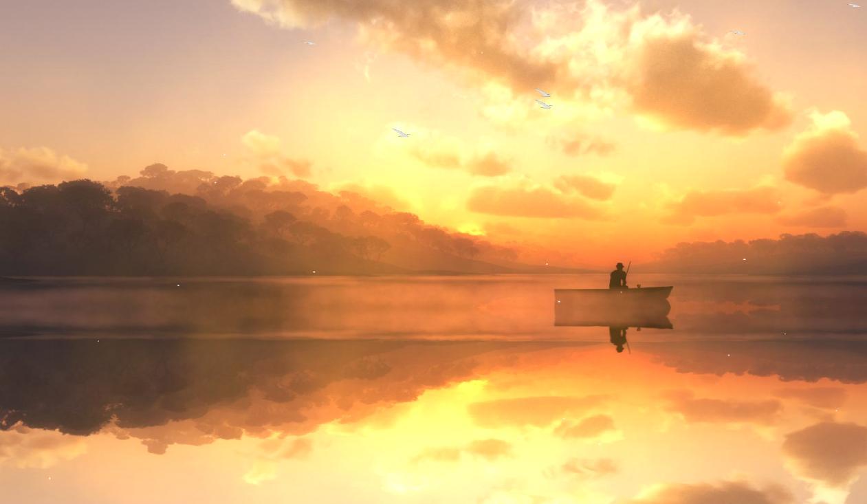 Beautiful Fishing Lake Screensaver
