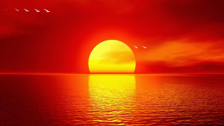 Ocean Sunset Screensaver