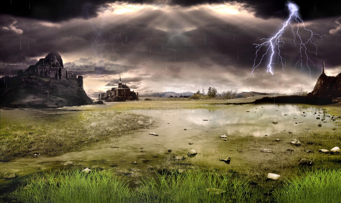 Thunderstorm Field Screensaver
