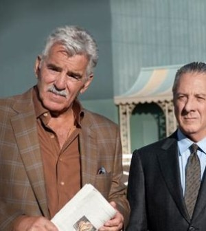 Dennis Farina and Dustin Hoffman. Image © HBO