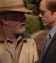 Nick Nolte as Walter Smith and Adam Harrington as Dennis Bowman in Luck. Image © HBO