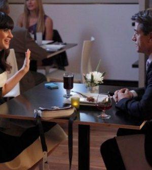 Zooey Deschanel and Guest Star Dermot Mulroney in New Girl. Image courtesy & © FOX