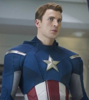 Chris Evans as Captain America in Marvel's 'The Avengers'