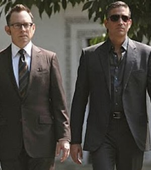 Person of Interest -- Micahel Emerson(l) & Jim Caviezel(r). Image ©Warner Bros/CBS