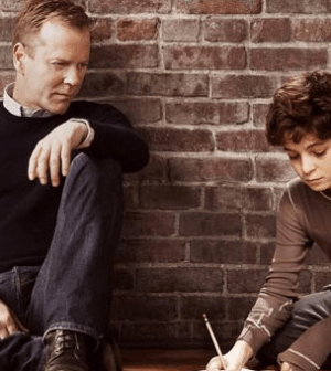 Kiefer Sutherland and David Mazouz in Touch (Image © Fox Broadcasting Company. All Rights Reserved.)