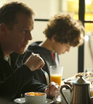 Kiefer Sutherland and David Mazouz in Touch. Image courtesy & © FOX