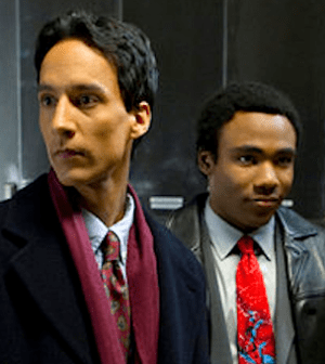 Danny Pudi and Donald Glover in COMMUNITY (Photo by Justin Lubin/ © NBC)