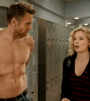 Joel McHale and Gillian Jacobs on Community (Image © NBC)