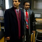 Danny Pudi as Abed, Donald Glover as Troy -- Photo by: Justin Lubin/NBC