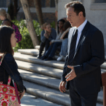 Daniela Bobadilla as Emma, Jason Isaacs as Britten. Photo by: Justin Lubin/ NBC