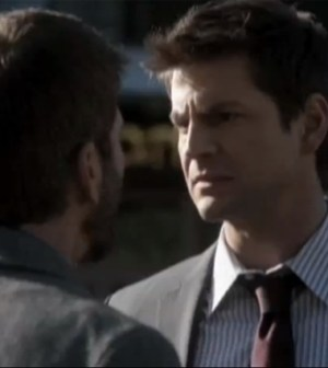 Joe Lando and Gale Harold in The Secret Circle. Image © The Cw Network.