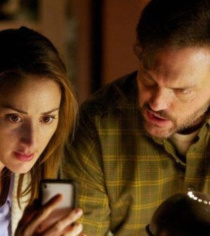 """GRIMM — """"Pictured: (l-r) Bree Turner as Rosalee, Silas Weir Mitchell as Monroe (Photo by: Scott Green/NBC)"""