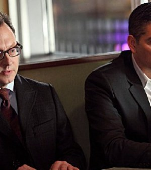 Michael Emerson (l) and Jim Caviezel (r) in Person of Interest. Image © CBS.