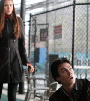 Nina Dobrev and Ian Somerhalder in The Vampire Diaries. Photo: Quantrell D. Colbert/ © 2012 The CW Network