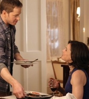 Josh Dallas and Lana Parrilla in Once Upon a Time. Image by Jack Rowland/ABC.