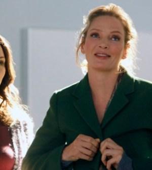 Katharine McPhee as Karen Cartwright, Uma Thurman as Rebecca Duvall -- (Photo by: Will Hart/NBC)
