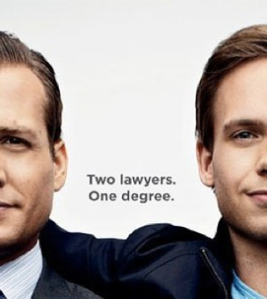 Gabriel Macht and Patrick J. Adams in Suits. Image © USA Network