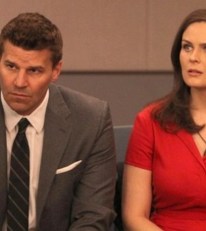 Brennan (Emily Deschanel) and Booth (David Boreanaz) in BONES. Photo by Patrick McElhenney/ © 2012 FOX