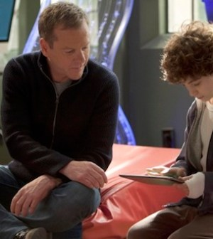 Kiefer Sutherland and David Mazouz in TOUCH (Photo by Isabella Vosmikova/ © 2012 Fox Broadcasting Co.)