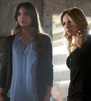 "Shelley Hennig as Diana and Britt Robertson as Cassie in ""Family."" Photo: Marcel Williams/The CW ©2012"