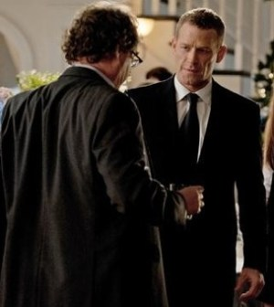 Center: Max Martini as Frank in the 'Legacy' episode of Revenge. Image ©ABC/COLLEEN HAYES