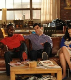 Lamorne Morris, Max Greenfield and Zooey Deschanel in New Girl. Photo by Patrick McElhenney/ © FOX