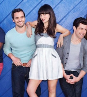 The cast of NEW GIRL  (Photo by Dewey Nicks / © 2012 Fox Broadcasting Co.)