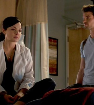 Erica Durance as Alex Reid, Daniel Gillies as Joel Goran -- (Photo by: Caitlin Cronenberg/NBC)
