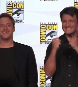 Alan Tudyk and Nathan Fillion at Comic Con's 10th Anniversary Firefly Reunion Panel (Photo by TFAW.com)