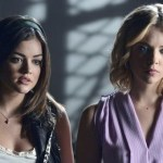 Lucy Hale and Ashley Benson in Pretty Little Liars. Photo: Eric McCandless/ABC Family.