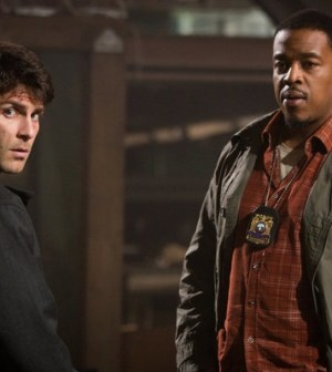 David Giuntoli as Nick Burkhardt, Russell Hornsby as Hank Griffin -- (Photo by: Scott Green/NBC)