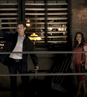 Eddie McClintock and Danielle Nicolet in WAREHOUSE 13 (Image © SyFy)