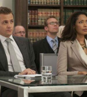 Gabriel Macht and Gina Torres in Suits. Photo: Christos Kalohoridis © USA