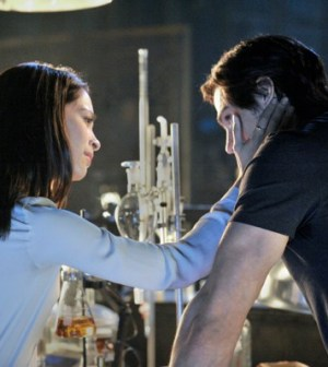 Kristin Kruek and Jay Ryan in the CW's Beauty & the Beast. Image © The CW Network