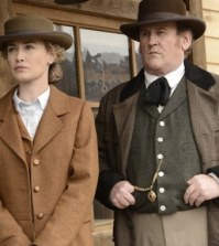 Dominique McElligott and Colm Meaney in Hell on Wheels. Image © AMC