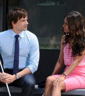 Christopher Gorham as Auggie & Daniella Alonso as Suzanne. Photo by: Steve Wilkie/USA Network.