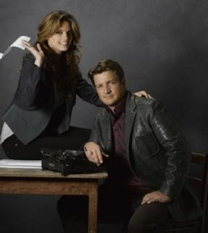 Stana Katic and Nathan Fillion in ABC's Castle. Image Cr: Bob D'Amico/ABC