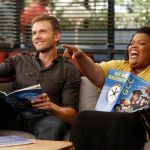 Joel McHale as Jeff, Yvette Nicole Brown as Shirley -- (Photo by: Jordin Althaus/NBC)