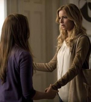 Christa B. Allen and Emily VanCamp in Revenge. Image © ABC.