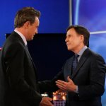 """GO ON """"Any Given Birthday"""" Episode 107 Matthew Perry and Bob Costas - (Photo by: Vivian Zink/NBC)"""