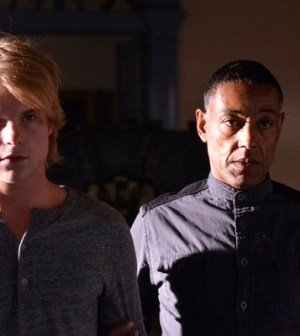 Graham Rogers and Giancarlo Esposito in Revolution. Image © NBC