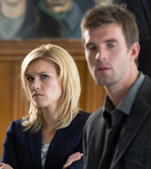 Emily Rose and Lucas Bryant in Haven. Image © Syfy.