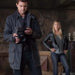 Peter and Olivia (Josh Jackson and Anna Torv) discover clues in an abandoned apartment building (Photo by Liane Hentscher/FOX)