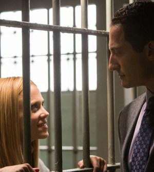 Claire Coffee and Sasha Roiz in NBC's Grimm