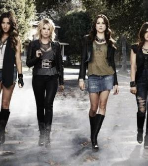 Shay Mitchell as Emily, Ashley Benson as Hanna,Troian Bellisario as Spencer & Lucy Hale as Aria. (ABC FAMILY/ANDREW ECCLES)