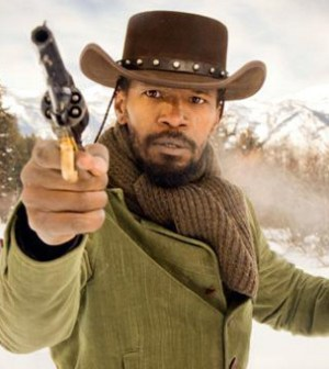 Jamie Foxx goes bad-ass in Quentin Tarantino's Django Unchained (Image © TWC)