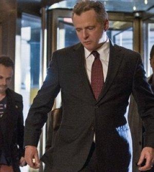 Pictured: (C) Aidan Quinn as Captain Gregson. Image © CBS
